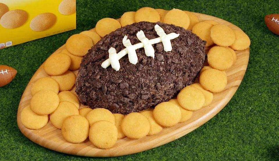 "<p>Every watch party needs an Oreo football.</p><p>Get the recipe from <a href=""https://www.delish.com/cooking/recipe-ideas/recipes/a50508/oreo-cheesecake-football-recipe/"" rel=""nofollow noopener"" target=""_blank"" data-ylk=""slk:Delish"" class=""link rapid-noclick-resp"">Delish</a>.</p>"