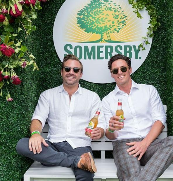 Be bumped into James at the Somersby Australia marquee at Polo In The City on Saturday. He is pictured here enjoying himself with a friend. Source: Instagram