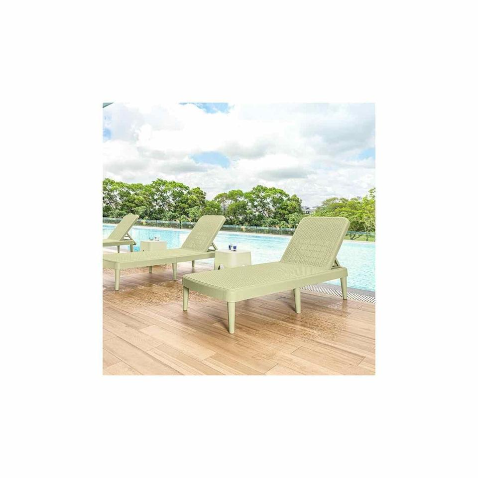 """<p><strong>Highland Dunes</strong></p><p>wayfair.com</p><p><strong>$163.99</strong></p><p><a href=""""https://go.redirectingat.com?id=74968X1596630&url=https%3A%2F%2Fwww.wayfair.com%2Foutdoor%2Fpdp%2Fhighland-dunes-luman-75-long-reclining-single-chaise-w000268679.html&sref=https%3A%2F%2Fwww.oprahdaily.com%2Flife%2Fg36661332%2Fbest-pool-lounge-chair%2F"""" rel=""""nofollow noopener"""" target=""""_blank"""" data-ylk=""""slk:SHOP NOW"""" class=""""link rapid-noclick-resp"""">SHOP NOW</a></p><p>This chair has a springy green hue that blends in nicely with the flora and fauna surrounding your pool. And, at over six feet long, it's a great option for taller people. </p>"""