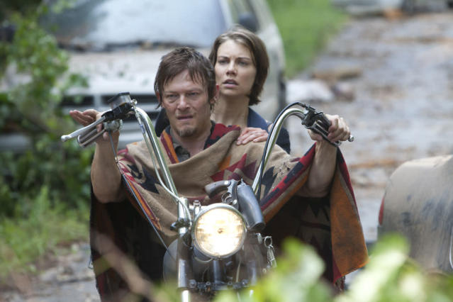 "Daryl Dixon (Norman Reedus) and Maggie Greene (Lauren Cohan) in ""The Walking Dead"" episode, ""Say the Word."""