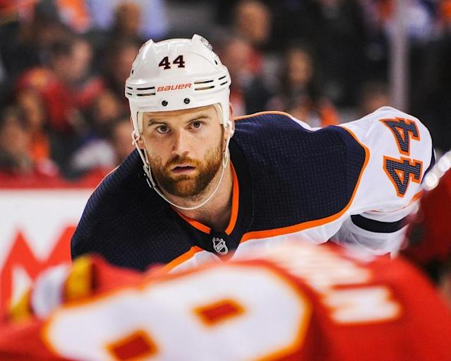 Edmonton Oilers tough guy Zack Kassian was handed a seven-game suspension by the NHL for kicking at a Tampa Bay Lightning player after they collided and fell to the ice together (AFP Photo/Derek Leung)