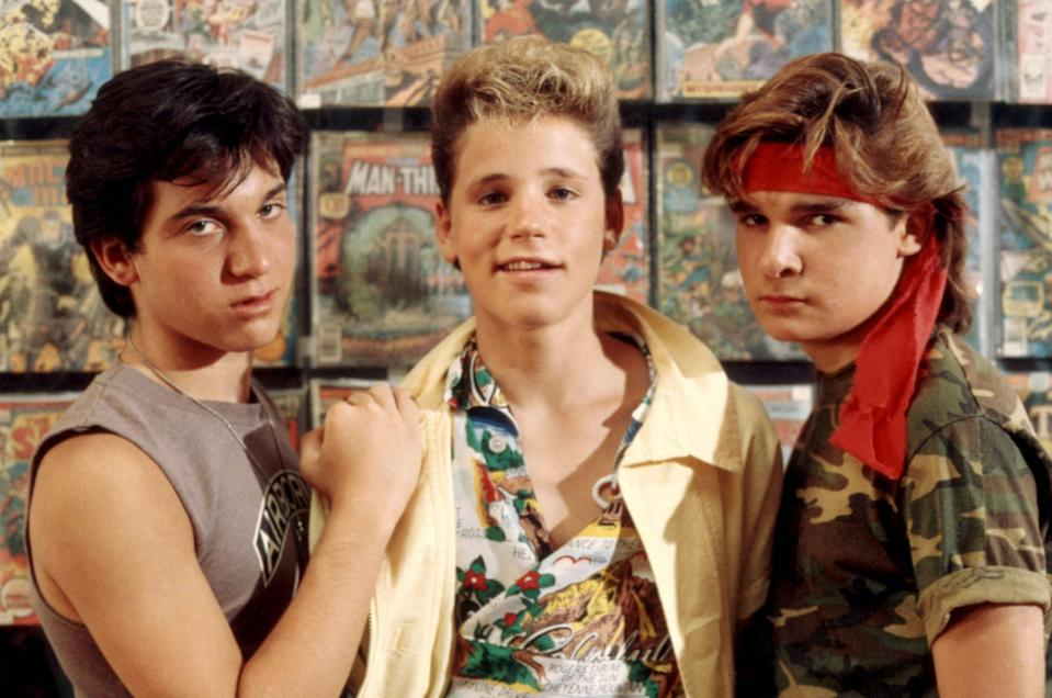 """<p>No, the Cullens of <em>Twilight</em> were not the first teen vampires to take over the big screen. Back in the '80s the Coreys (Feldman and Haim) and Jason Patric battled with some bad vamps, led by Kiefer Sutherland in <em>The Lost Boys</em>. </p> <p><em>Available to rent on</em> <a href=""""https://www.amazon.com/Lost-Boys-Corey-Feldman/dp/B003F44QRQ"""" rel=""""nofollow noopener"""" target=""""_blank"""" data-ylk=""""slk:Amazon Prime Video"""" class=""""link rapid-noclick-resp""""><em>Amazon Prime Video</em></a><em>.</em></p>"""