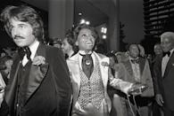 <p>Diana Ross attended the Academy Awards in 1973 as a nominee for Best Actress for her role in <em>Lady Sings the Blues</em>, but Liza Minnelli won the category for her role in <em>Cabaret. </em>Here, Ross and her husband, Robert Ellis Silberstein, arrive at the awards show. </p>