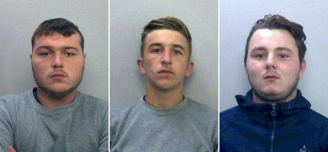 (Left to right), Henry Long, 19, Jessie Cole and Albert Bowers, both 18 (Picture: PA)