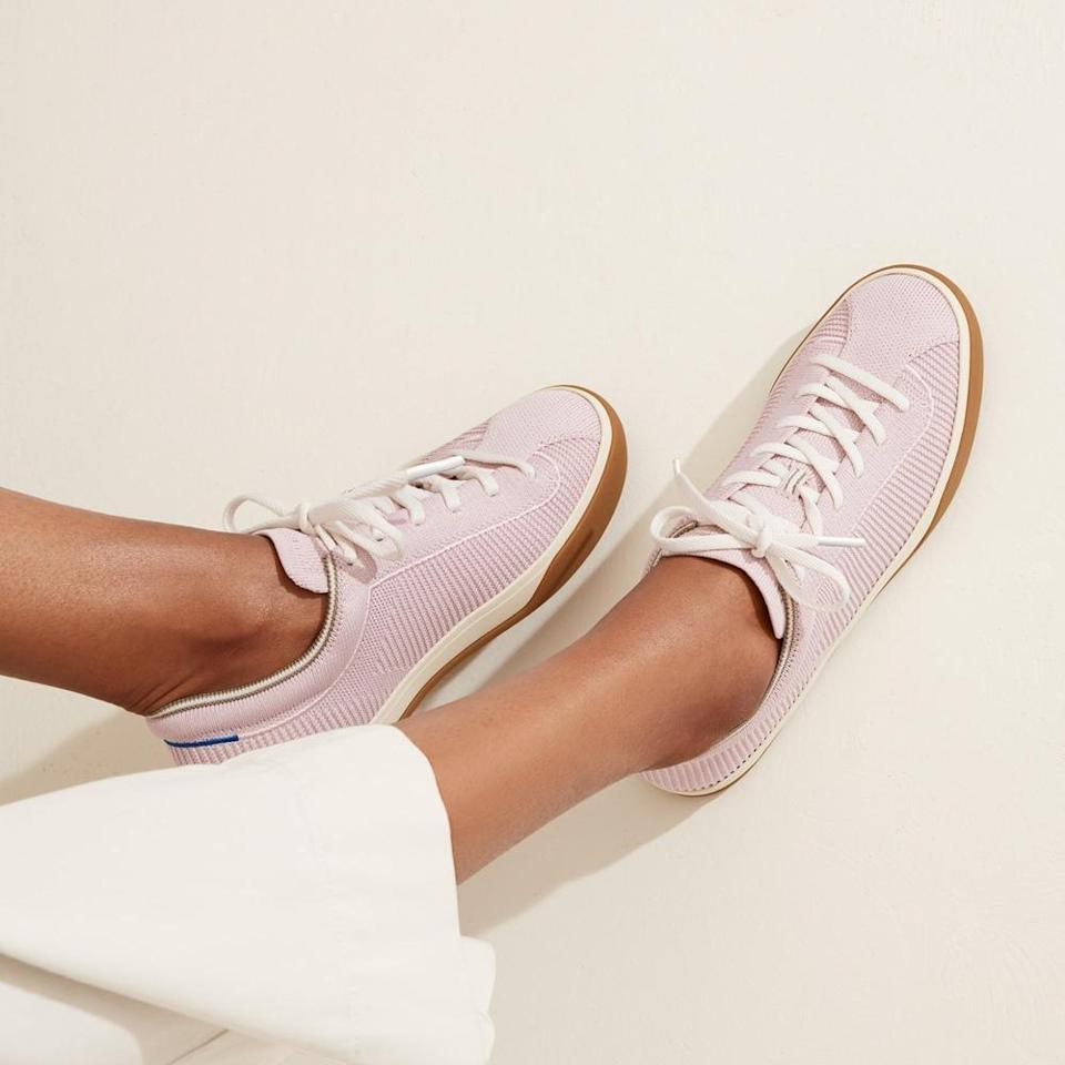 <p>They're made from recycled water bottles, so you can feel good about wearing these eco-friendly <span>Rothy's Sneakers</span> ($165).</p>