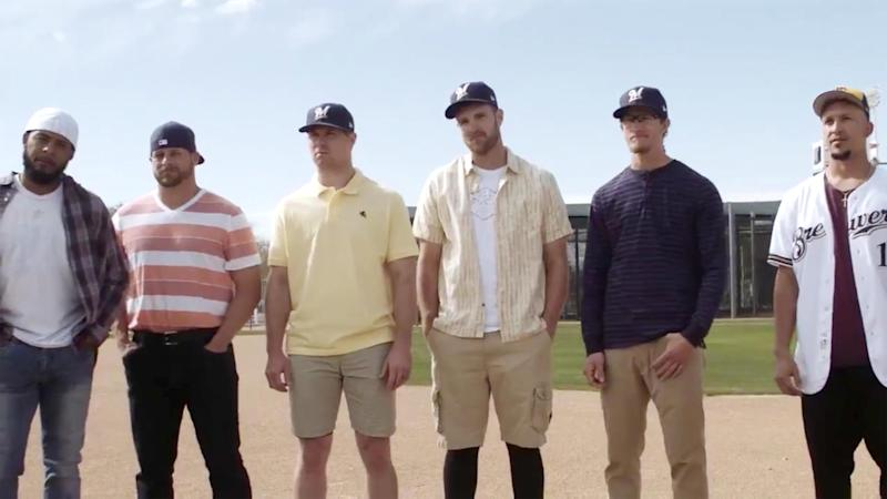 db661efae761c Milwaukee Brewers players re-created an iconic scene from The Sandlot