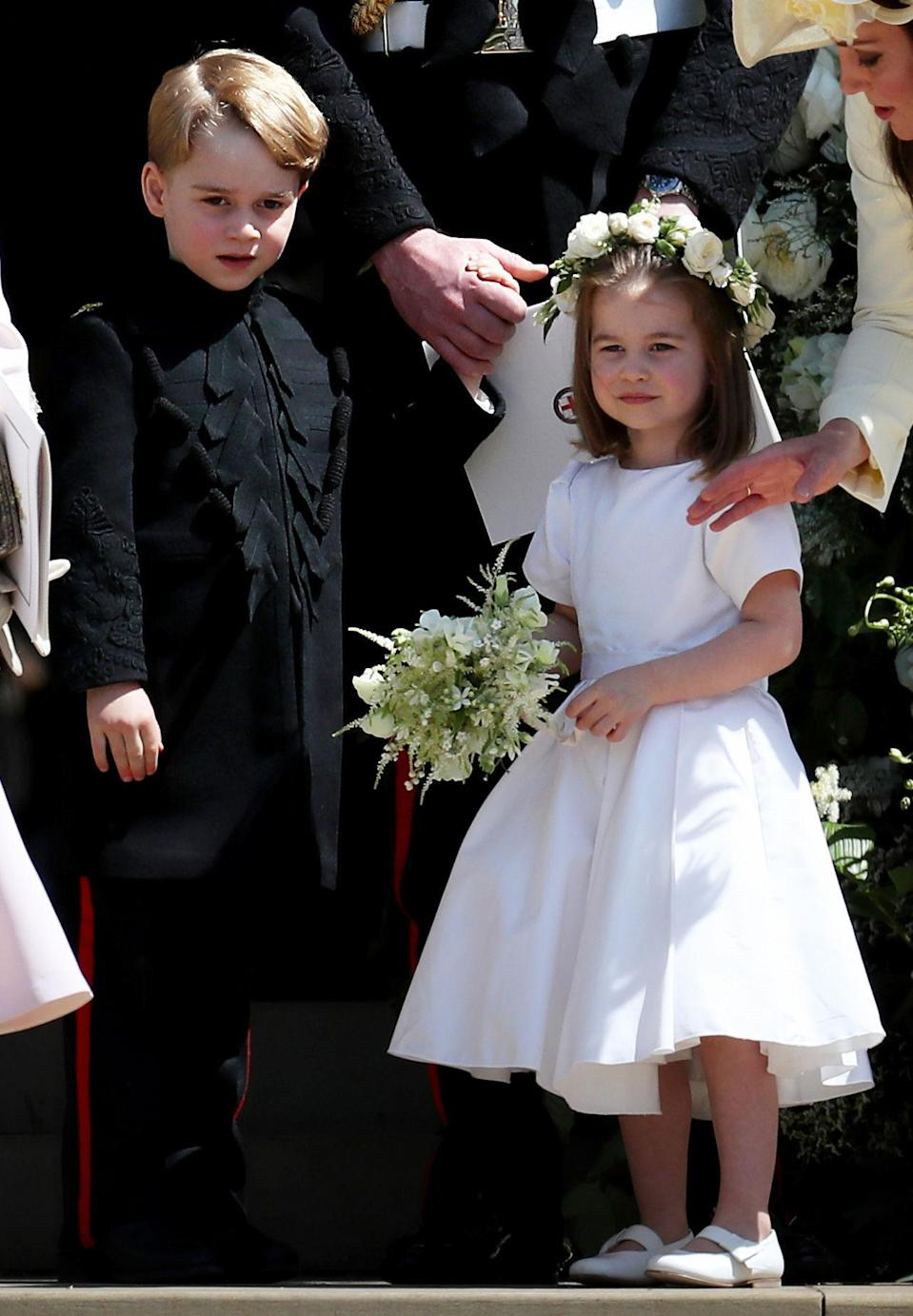 Prince George and Princess Charlotte at Meghan and Harry's wedding (PA)