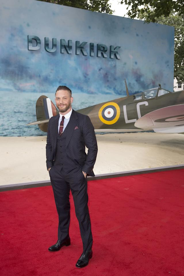 <p>Tom Hardy plays a daring pilot in 'Dunkirk' (WB) </p>