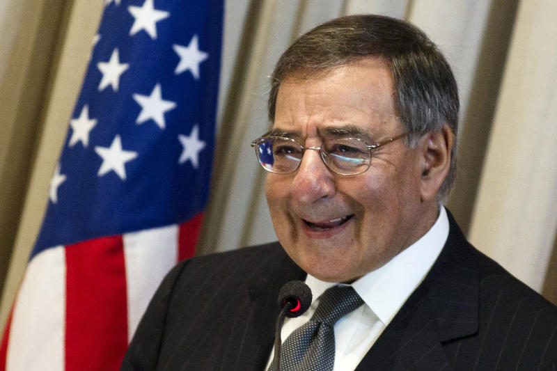 FILE - In this April 25, 2012, file photo, U.S. Defense Secretary Leon Panetta speaks at Brazil's Superior War College in Rio de Janeiro, Brazil. Traveling to Colombia, Brazil and Chile this week, Panetta underscored the importance of those nations as military partners in a region where the U.S. influence in a number of countries is being challenged by China. (AP Photo/Felipe Dana, File)