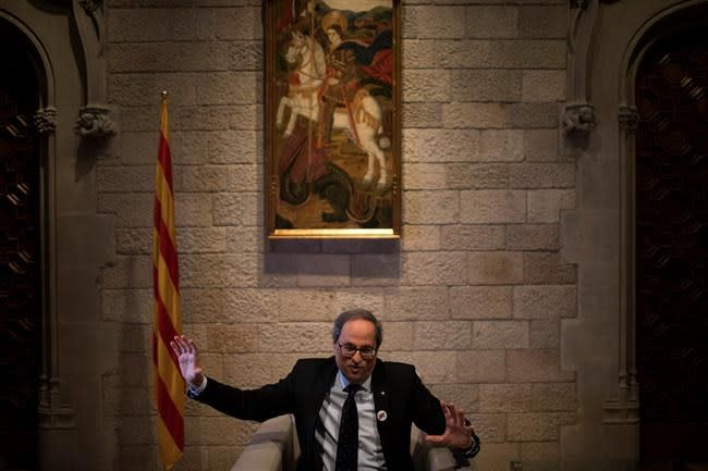 AP Interview: Catalan leader says 'No' to Spain govt budget