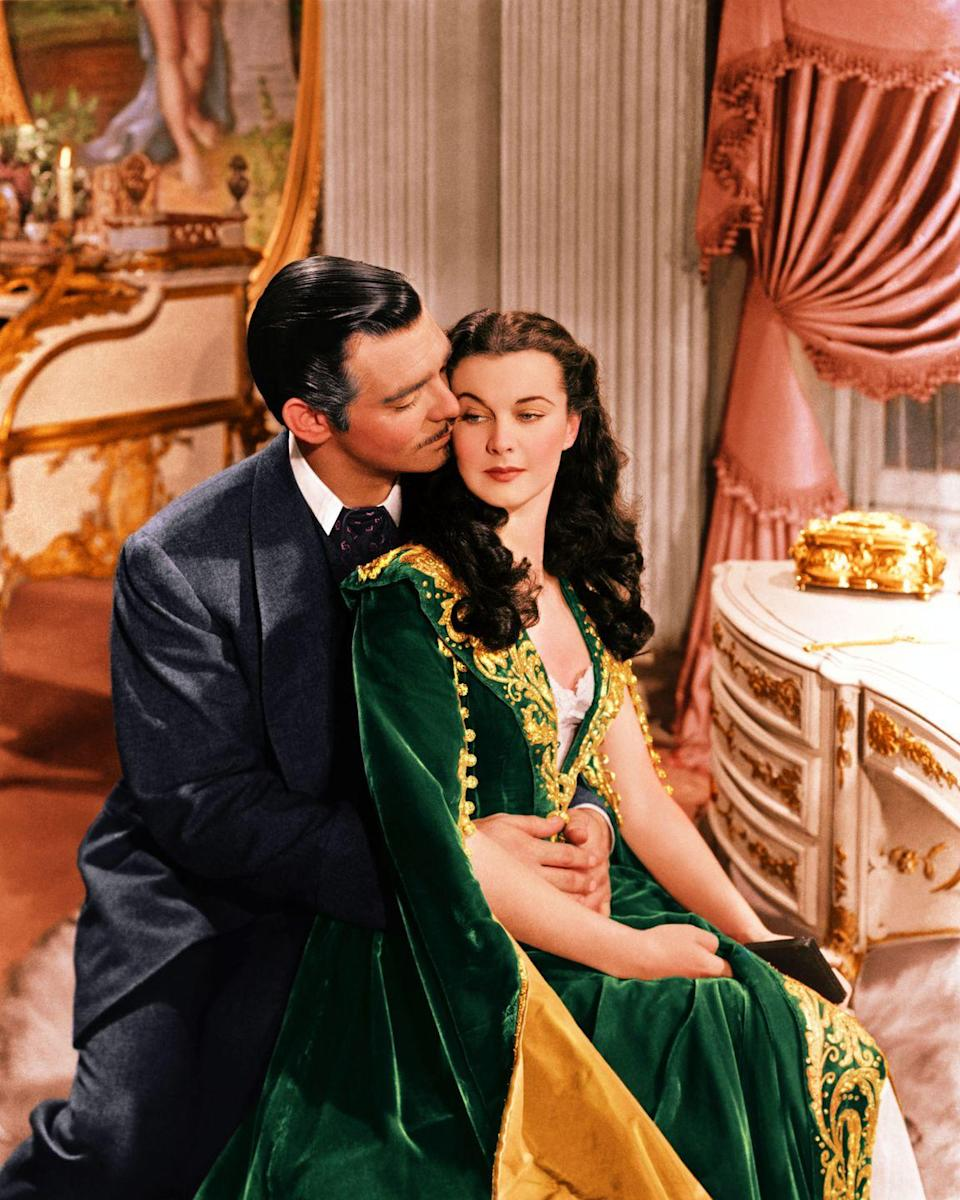 <p>Vivien Leigh wore a number of stunning outfits for her portrayal of Scarlett O'Hara in <em>Gone with the Wind—</em>who can forget the stunner made from Tara's curtains? Her emerald-green velvet dressing gown is one of the most striking ensembles in the film. </p>