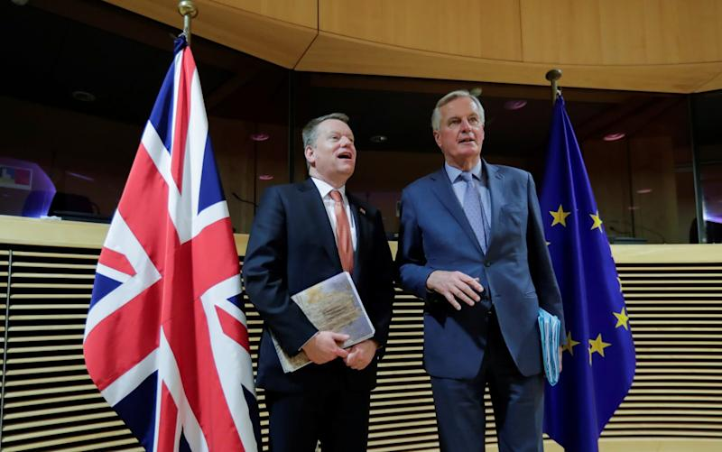 David Frost (left) and Michel Barnier are preparing for an 'intensive' phase of talks - Reuters