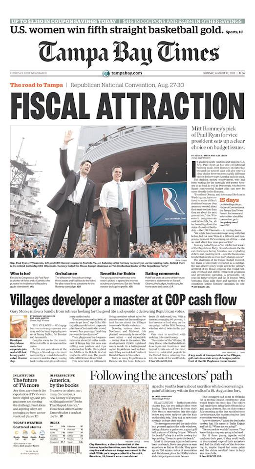 Tampa Bay Times, Aug. 12, 2012