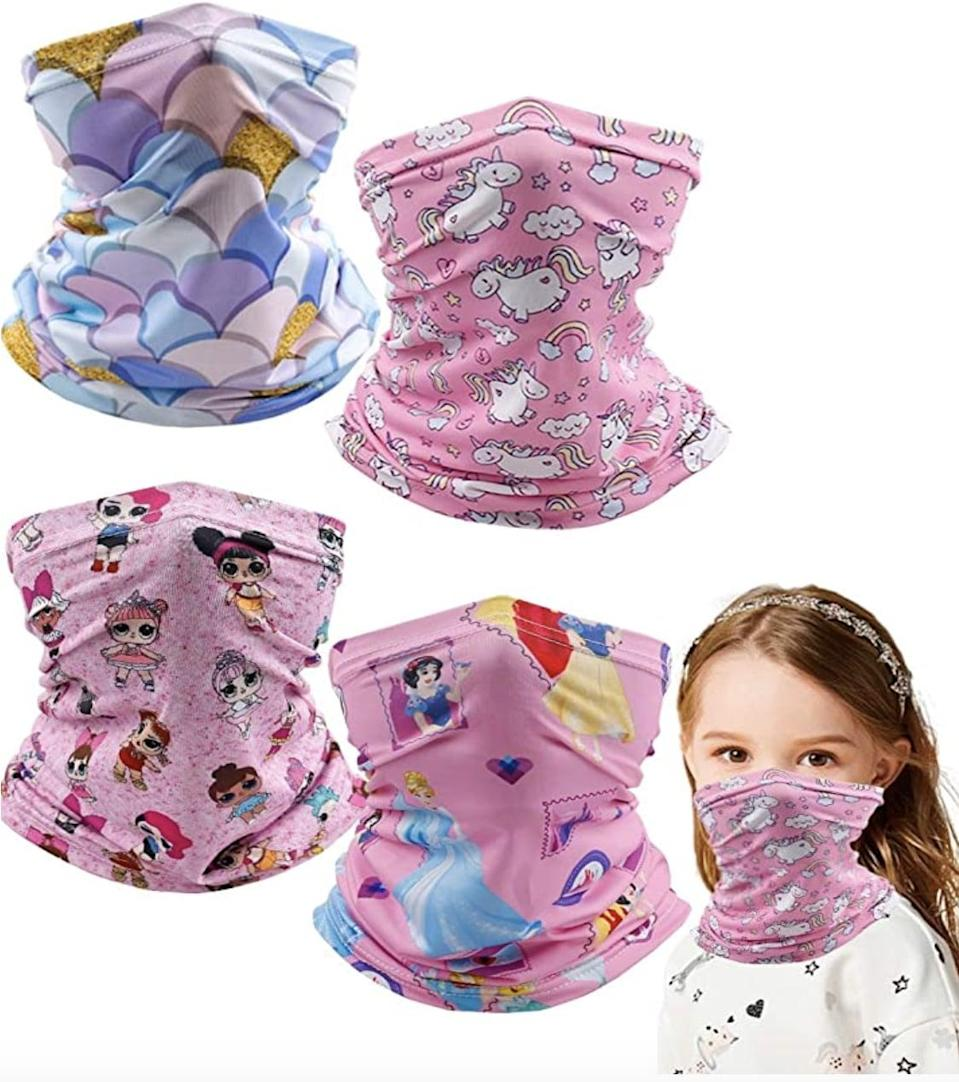 <p>Grab this pack of four <span>Kids Balaclava Neck Gaiter Bandanas</span> ($10, originally $17) in a variety of patterns. These breathable gaiters come in a couple different sizes so you can find the right fit for your little one.</p>