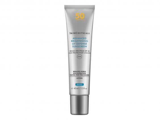 Wearing SPF is vital in protecting your skin from UV rays and preventing hyperpigmentation (SkinCeuticals)