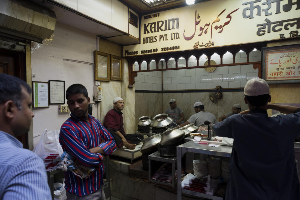 Tucked away in the narrow lanes of Chandni Chowk, Karim's has been in business since 1913. Amidst the chaos of what could well be the microcosm of India, Karim's is a haven for the hungry. Head over to Karim's for its Nihari and Jahangiri and also the opportunity to watch life go by as you dig into your second plate of mutton biryani. (Photo by Subhendu Sarkar/LightRocket via Getty Images)