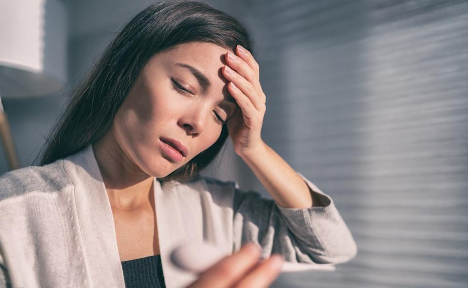 Woman with headache and fever