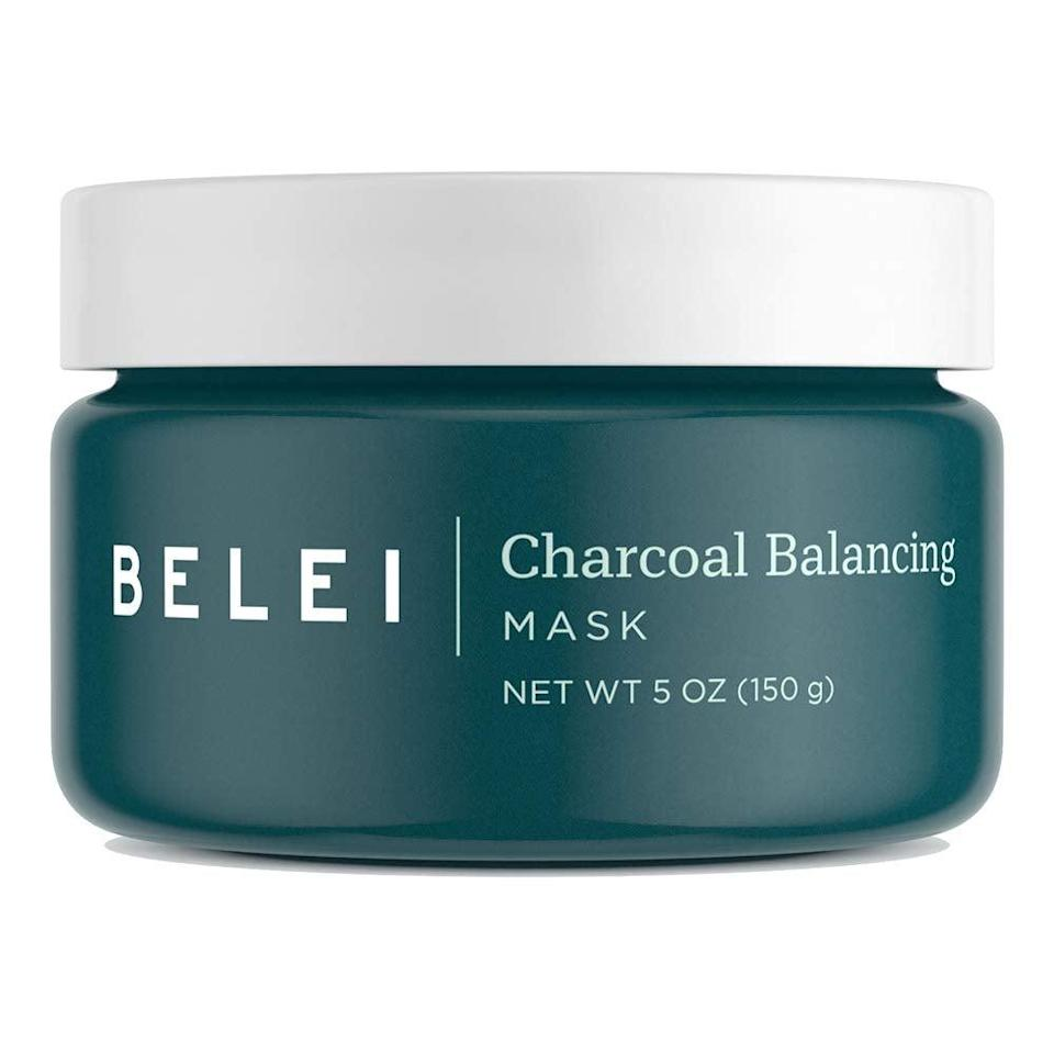 """<h3><h2>Charcoal Balancing Mask</h2></h3><br>""""I used this in the morning after washing my face. It has a nice consistency and went on easily. I'm wasn't sure if I applied enough, but after 15 minutes I rinsed my face and my skin seemed smoother and brighter. I waited for a few minutes to apply moisturizer as a test — usually, if I don't apply moisturizer immediately after washing my face, my skin starts to feel super dry and tight. But my skin actually felt really hydrated. I probably could have gotten away with not applying moisturizer at all, but I put on a little sunscreen because I was going outside. This was actually my first time using a mask, so I don't have a lot to compare it to, but I liked it and would definitely use it again."""" — Emily Ruane, Fashion Market Writer<br><br><strong>Belei</strong> Charcoal Balancing Mask, $, available at <a href=""""https://amzn.to/2SKlyWJ"""" rel=""""nofollow noopener"""" target=""""_blank"""" data-ylk=""""slk:Amazon"""" class=""""link rapid-noclick-resp"""">Amazon</a>"""