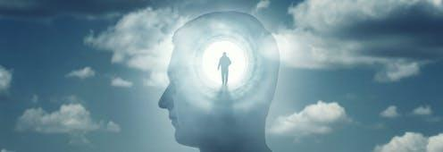 """<span class=""""caption"""">Are you conscious of your decisions?</span> <span class=""""attribution""""><a class=""""link rapid-noclick-resp"""" href=""""https://www.shutterstock.com/image-photo/silhouete-man-rays-light-emanating-brain-1526483066"""" rel=""""nofollow noopener"""" target=""""_blank"""" data-ylk=""""slk:Triff/Shutterstock"""">Triff/Shutterstock</a></span>"""