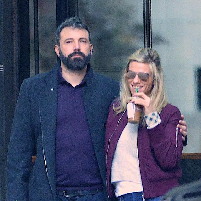 """<p>After filing for divorce from Jennifer Garner, the <em>Justice League </em>star quickly moved on with <em>Saturday Night Live </em>producer, Lindsay Shookus. The timeline of when their relationship turned romantic — which some reports claimed started when they were both married — was never confirmed, but these two appear to be on the <a href=""""https://www.yahoo.com/lifestyle/ben-affleck-lindsay-shookus-smiles-222727077.html"""" data-ylk=""""slk:path to getting serious;outcm:mb_qualified_link;_E:mb_qualified_link"""" class=""""link rapid-noclick-resp"""">path to getting serious</a>. (Photo: Robert Kamau/GC Images) </p>"""