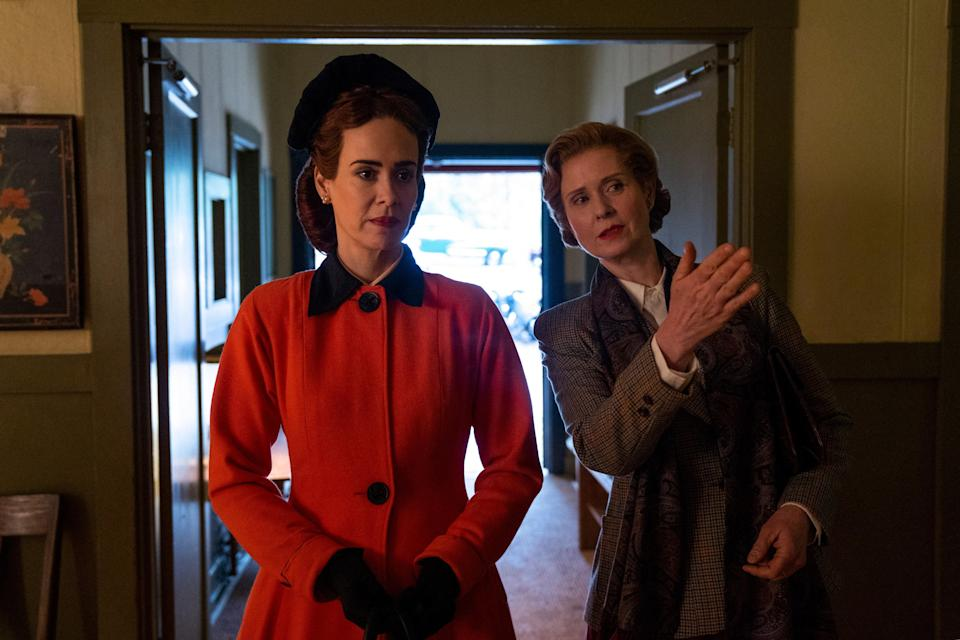 """<p><em>Nominated for: Best Television Series–Drama; Best Performance by an Actress in a Television Series–Drama (Sarah Paulson); Best Performance by an Actress in a Supporting Role in a Series, Limited Series or Motion Picture Made for Television (Cynthia Nixon)</em></p> <p>Ryan Murphy's prequel to <em>One Flew Over the Cuckoo's Nest</em> explores the twisted backstory of the most famously hated nurse in all of cinema. And of course there are sexy surprises. This is the man who gave us <em>Nip/Tuck</em> after all.</p> <p><a href=""""https://cna.st/affiliate-link/2Z6F81fjBAMUbaw55t2E8q41eU5eDQYHEH5vMP7s8X5gXGxyxd3zMWPNSLVfSbD6S5rxYoM8tGAYsiVuAMA3TgZomAig?cid=5f6129b52a7e5bdaa69f8d9d"""" rel=""""nofollow noopener"""" target=""""_blank"""" data-ylk=""""slk:Watch now on Netflix"""" class=""""link rapid-noclick-resp""""><em>Watch now on Netflix</em></a></p>"""