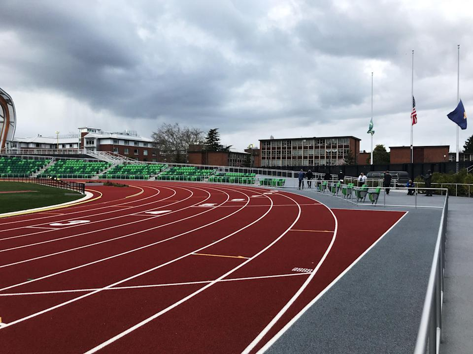 "<p>After two years of construction—and a grand opening delayed by a pandemic—the project to raze and rebuild Hayward Field at the University of Oregon in Eugene has finally reached the finish line. <br><br>The track opens for its first meet on April 2 with the <a href=""https://goducks.com/news/2021/3/24/Home_Meet_Information.aspx"" rel=""nofollow noopener"" target=""_blank"" data-ylk=""slk:Hayward Premiere"" class=""link rapid-noclick-resp"">Hayward Premiere</a>, an event for top college athletes. <br><br>The new facility has an estimated price tag of $270 million, according to the <em><a href=""https://www.wsj.com/articles/oregon-track-nike-phil-knight-hayward-field-11615169965"" rel=""nofollow noopener"" target=""_blank"" data-ylk=""slk:Wall Street Journal"" class=""link rapid-noclick-resp"">Wall Street Journal</a></em>, and it was funded largely by Nike founder Phil Knight. <br><br>The project was not without controversy. Longtime Eugene residents and fans of track & field had hoped a renovation would preserve the historic Hayward Field grandstands that had been in the neighborhood for close to 100 years. Instead, the grandstands <a href=""https://www.runnersworld.com/news/a19848857/new-hayward-field-plans-unveiled/"" rel=""nofollow noopener"" target=""_blank"" data-ylk=""slk:were torn down to make room for a state of the art facility"" class=""link rapid-noclick-resp"">were torn down to make room for a state of the art facility</a>, which has 12,650 permanent seats and is expandable to nearly 25,000, in order to accommodate the 2022 World Athletics championships. In June, the facility will host the NCAA championships and U.S. Olympic Track & Field Trials.</p><p><em>Runner's World</em> got an inside look at the new facilities this week. Here are some of the coolest new features of the brand new Hayward Field.</p><p><strong><em>Get motivational storytelling, in-depth gear reviews, and <span><a href=""https://join.runnersworld.com/pubs/HR/RUN/RUN1_Plans.jsp?cds_page_id=252461&cds_mag_code=RUN&cds_tracking_code=edit-inline-new-hayward-field"" rel=""nofollow noopener"" target=""_blank"" data-ylk=""slk:the best expert running advice with Runner's World+"" class=""link rapid-noclick-resp"">the best expert running advice with Runner's World+</a></span>!</em></strong></p>"