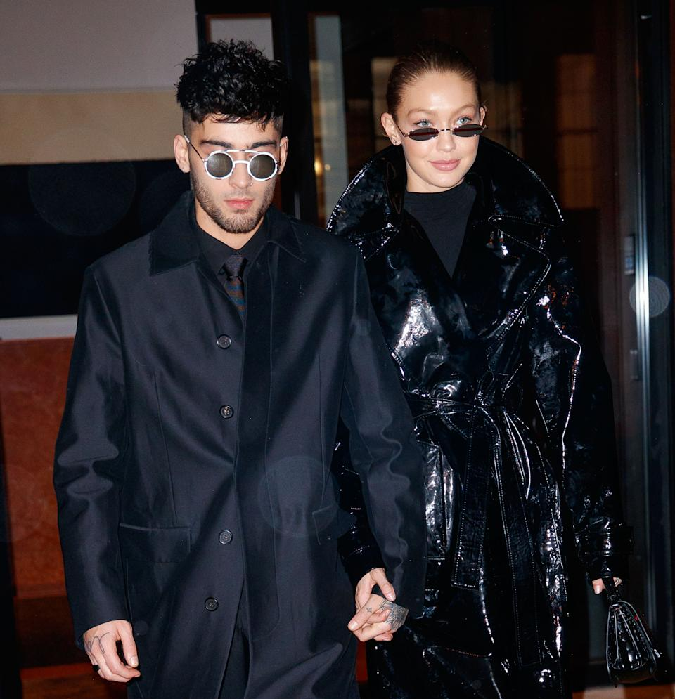 The father of the model's newborn girl is boyfriend Zayn Malik. (Getty Images)