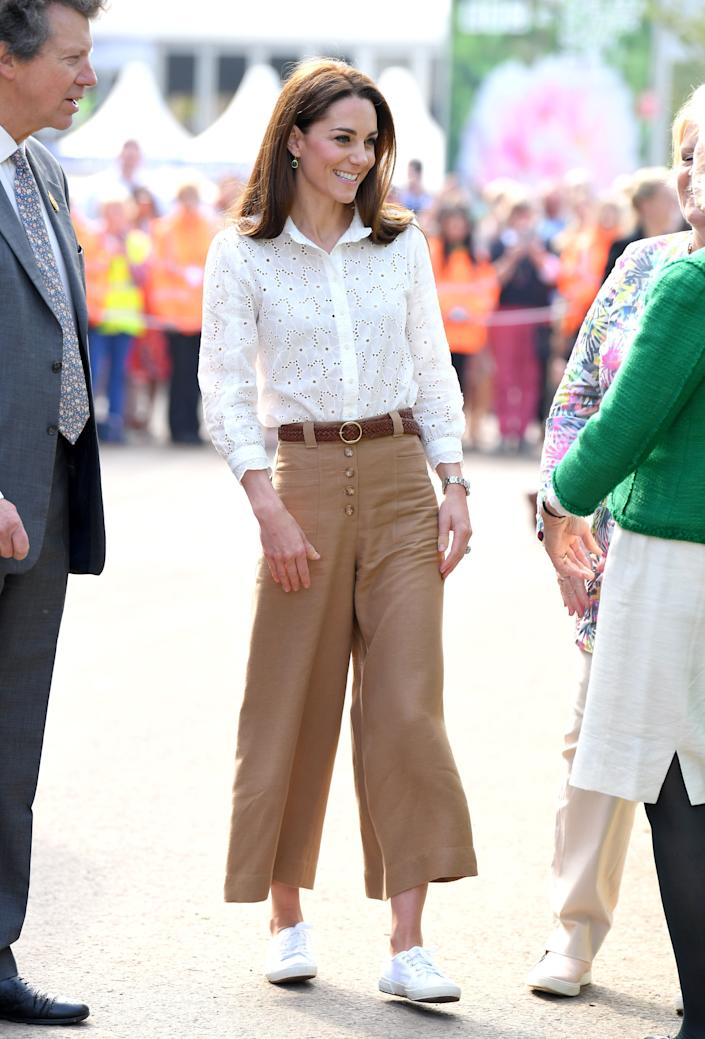 Kate attends her Back to Nature Garden at the RHS Chelsea Flower Show on May 20 in London.