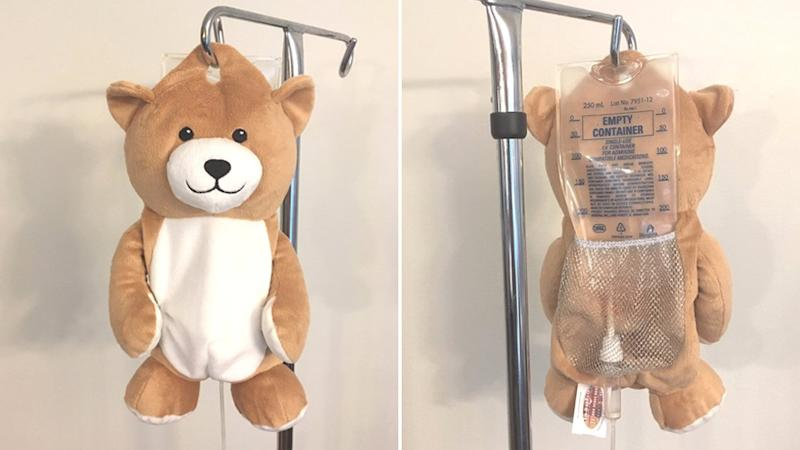 A front and back photo of the Medi Teddy.