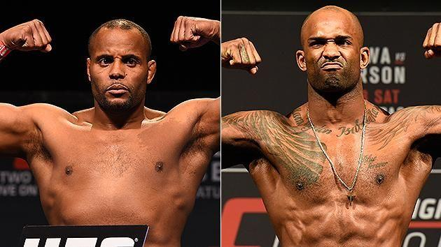 Cormier (left) and Manuwa (right) have been talking it up. Pic: Getty