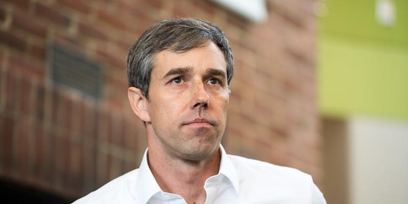 PLYMOUTH, NH - MARCH 20: Democratic presidential candidate Beto O'Rourke looks on during a meet and greet at Plymouth State College on March 20, 2019 in Plymouth, New Hampshire. After losing a long-shot race for U.S. Senate to Ted Cruz (R-TX), the 46-year-old O'Rourke is making his first campaign swing through New Hampshire after jumping into a crowded Democratic field. (Photo by Scott Eisen/Getty Images)