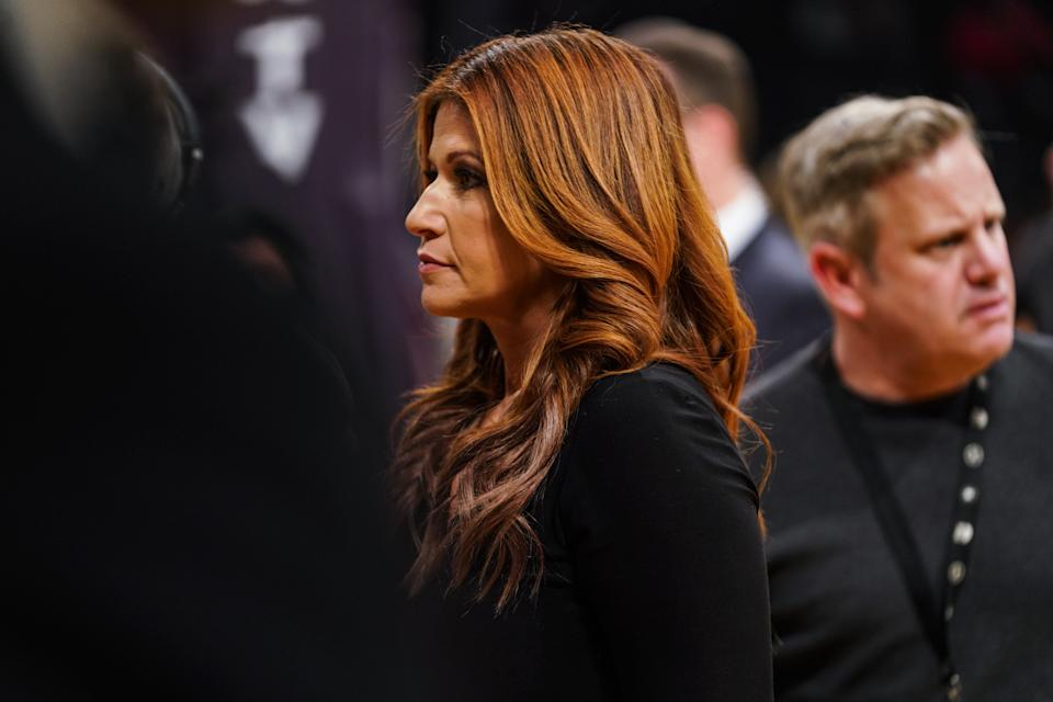 ESPN sideline reporter Rachel Nichols is under fire within the company for comments she made about her fellow ESPN employee and NBA reporter Maria Taylor. (Photo by Cassy Athena/Getty Images)