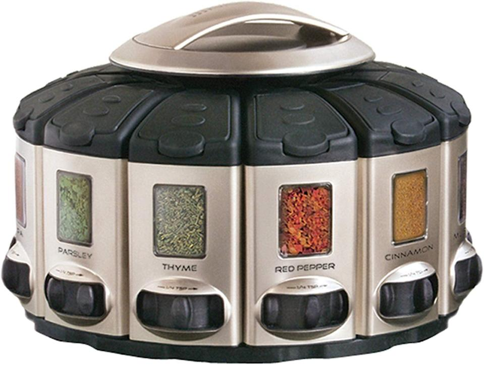 <p>This <span>KitchenArt Select-A-Spice Auto-Measure Carousel</span> ($30) is a total game changer.</p>