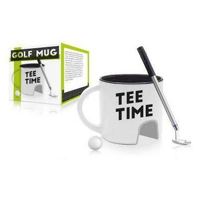 """<p><strong>NPW</strong></p><p>target.com</p><p><strong>$10.00</strong></p><p><a href=""""https://www.target.com/p/tee-time-father-39-s-day-golf-mug/-/A-51548251"""" rel=""""nofollow noopener"""" target=""""_blank"""" data-ylk=""""slk:BUY IT HERE"""" class=""""link rapid-noclick-resp"""">BUY IT HERE</a></p><p>Yes, it's corny. But, I mean, have you ever <em>met </em>your dad before? He lives for this kind of shit. Don't overthink it and buy the damn mug.</p>"""