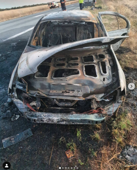 Image of burnt car MAFS star