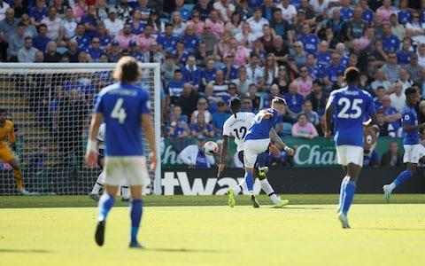 Leicester City's James Maddison scores their second goal - Credit: REUTERS