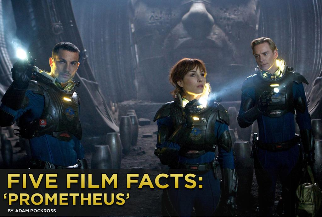 """Ravenous """"Alien"""" (1979) fans will finally get their interplanetary swerve on when Ridley Scott's long-awaited """"<a href=""""http://movies.yahoo.com/movie/prometheus-2012/"""">Prometheus</a>"""" touches down in theaters this weekend. The project initially started as a prequel to Scott's genre defining masterpiece, but that direction got lost a little along the way, pretty much after Scott hired """"Lost"""" scribe Damon Lindelof to help pen the film. The final product references the original, but stands alone in a uniquely beautiful and mind-boggling way that explores not just life in space, but also the origins of human life. We all know Scott's first film shot digitally and in 3D will be a visual wonder, but here are five fun facts about the film you may not know."""