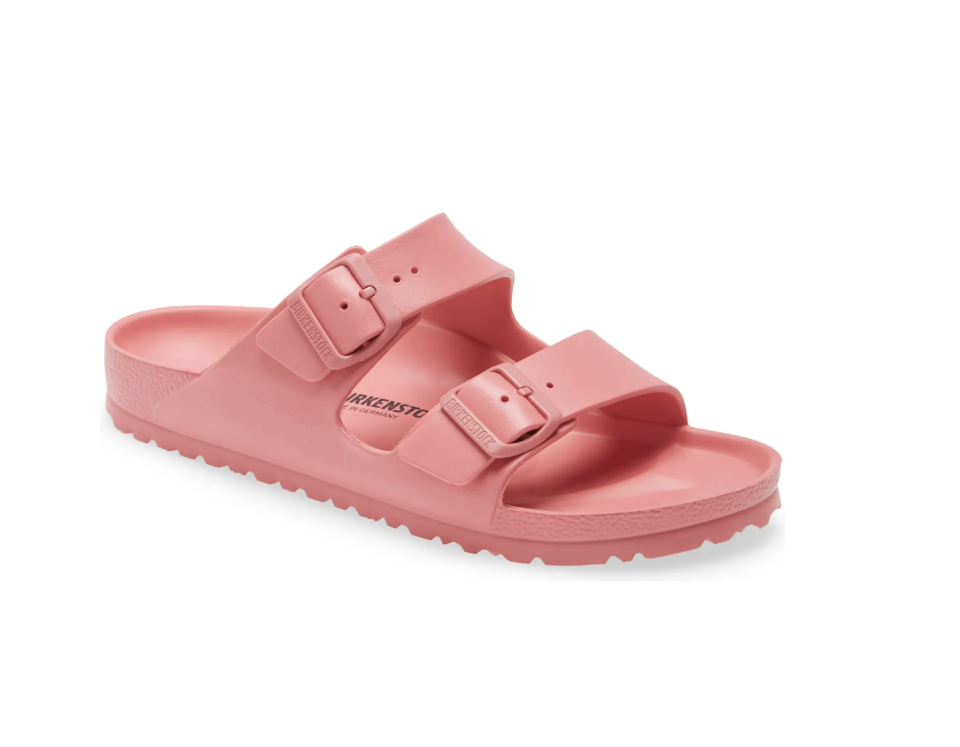 Essentials Arizona Waterproof Slide Sandal - Watermelon, $45