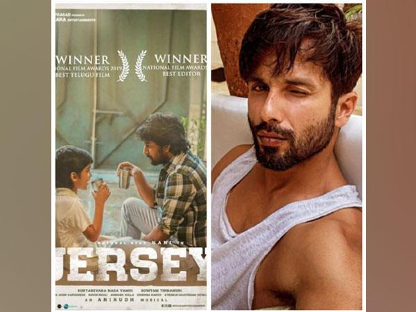 Poster of 'Jersey' and Shahid Kapoor (Image Source: Instagram)