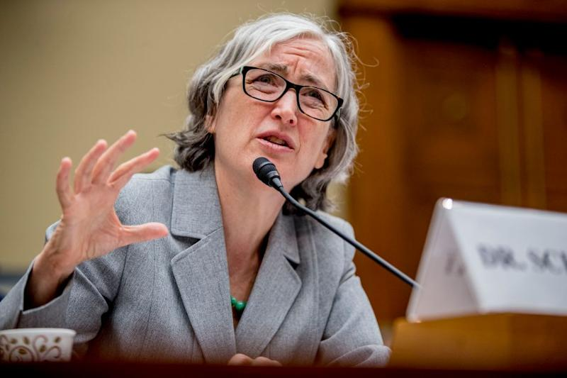 CDC Principal Deputy Secretary Dr. Anne Schuchat speaks before a House Oversight subcommittee hearing on lung disease and e-cigarettes on Capitol Hill in Washington, Tuesday, Sept. 24, 2019.
