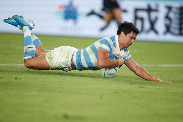 Moroni scored a late try to briefly reduce the deficit. (Photo by Odd ANDERSEN / AFP)