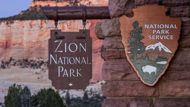 PHOTO: The east entrance to Zion National Park is viewed along the Mount Carmel Highway, Nov. 6, 2018 in Zion National Park, Utah. (George Rose/Getty Images, FILE)