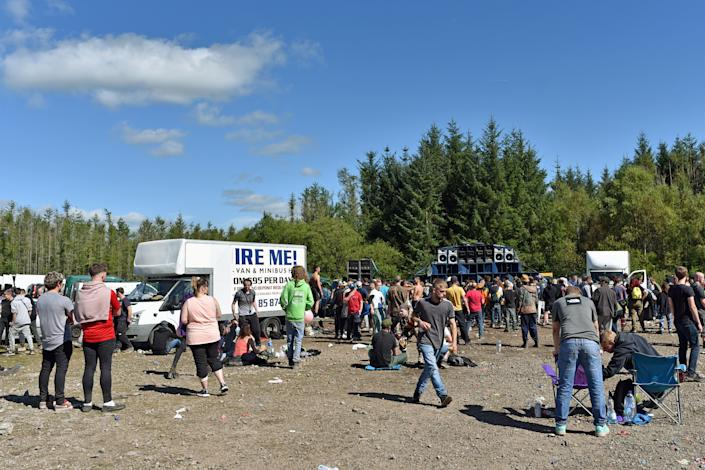 Rave which started in the early hours of Sunday in the forest at Neath Port Talbot, near the village of Banwen.  Locals find it impossible to park their cars.