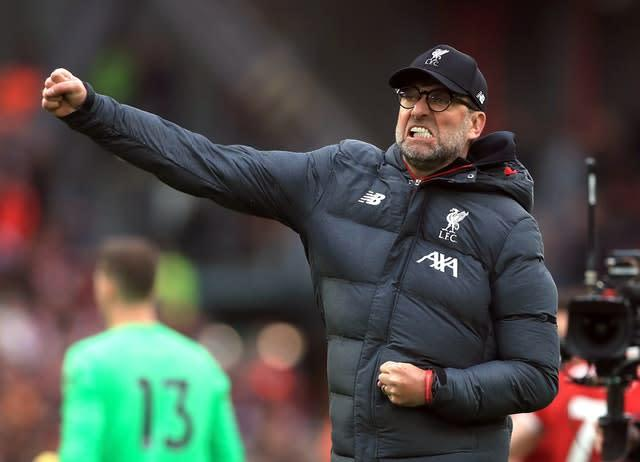 Liverpool manager Jurgen Klopp has been instrumental in shaping this season (Mike Egerton/PA)