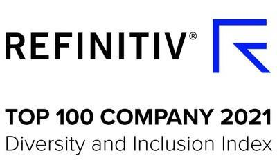 REFINITIV(R) TOP 100 COMPANY 2021 Diversity and Inclusion Index (CNW Group/RBC)