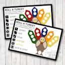 """<p>This game can be played at the table after the dishes are cleared — roll the dice, and put the correct-colored M&M on the turkey card. Whoever fills theirs up first wins!</p><p><em><a href=""""https://www.unoriginalmom.com/roll-turkey-free-thanksgiving-game-kids/"""" rel=""""nofollow noopener"""" target=""""_blank"""" data-ylk=""""slk:Get the printable card at Unoriginal Mom »"""" class=""""link rapid-noclick-resp"""">Get the printable card at Unoriginal Mom »</a></em> </p>"""