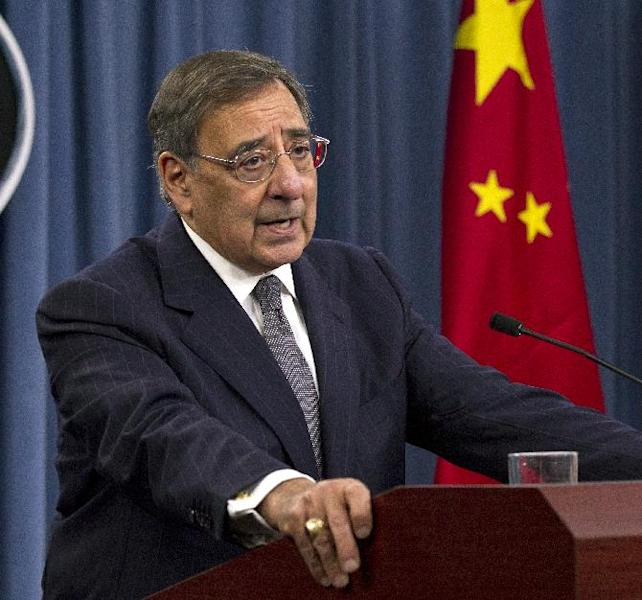 Defense Secretary Leon Panetta speaks during a news conference with China's Minister of National Defense Gen. Liang Guanglie, not seen, at the Pentagon, Monday, May 7, 2012, in Washington. (AP Photo/Manuel Balce Ceneta)