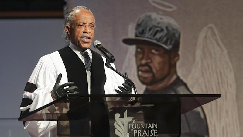 """The Reverend Al Sharpton says George Floyd has become the """"cornerstone of a movement"""""""