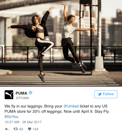 The athletics brand joins the #LeggingsGate conversation with a timely promotion.