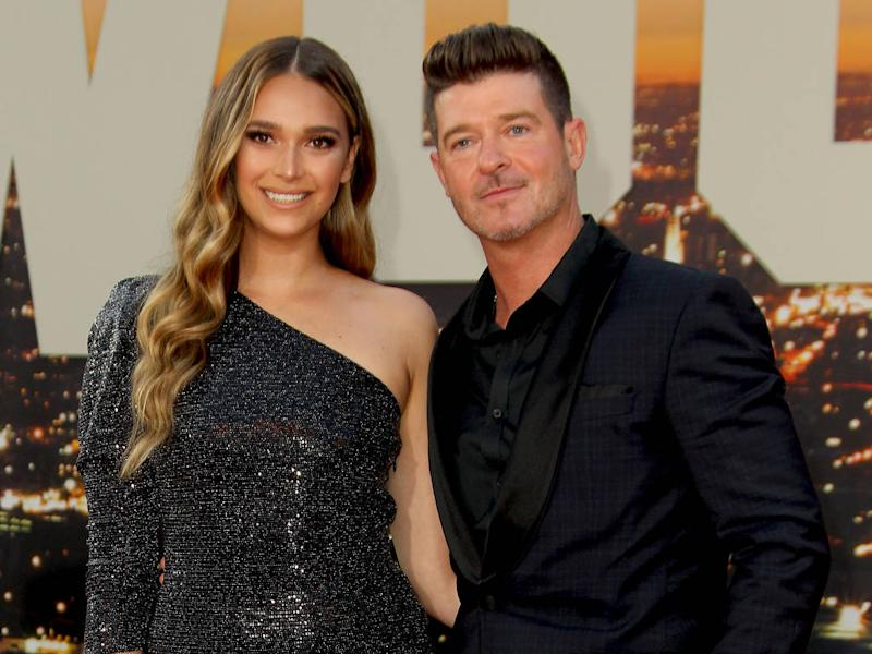 Robin Thicke's fiancee at fault in car crash